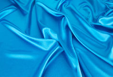 Blue silk drapery Royalty Free Stock Photos