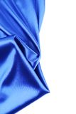 Blue silk drapery. Royalty Free Stock Photo