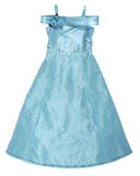 Blue silk dress Royalty Free Stock Images