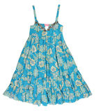 Blue silk dress sundress Royalty Free Stock Image