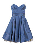 Blue silk dress sundress Royalty Free Stock Photo