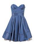 Blue silk dress sundress Royalty Free Stock Photo