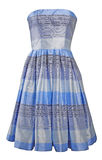 Blue silk dress sundress Royalty Free Stock Photography