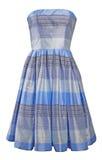 Blue silk dress sundress Royalty Free Stock Photography