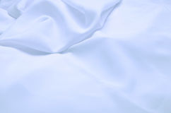 Blue silk fabric Stock Photography