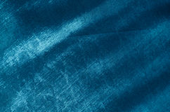 Blue silk fabric Royalty Free Stock Photography