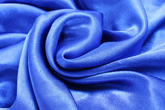 Blue silk fabric texture Stock Image