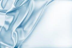 Blue Silk Fabric Texture Stock Image