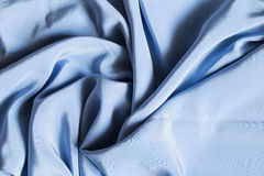 Blue silk Royalty Free Stock Photos