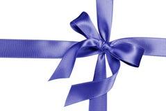 Blue silk ribbon. Isolated on white Royalty Free Stock Image