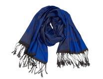 Blue Silk scarf Stock Image