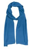 Blue silk scarf Royalty Free Stock Image