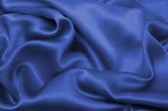 Blue silk textile Stock Photography