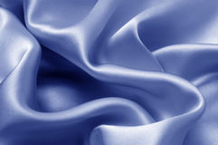 Blue silk textile background Royalty Free Stock Images