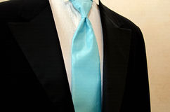 Blue silk tie Stock Photos