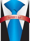 Blue silk tie for Father`s Day Royalty Free Stock Images