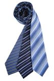 Blue silk ties Stock Photography
