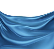 Blue silk waves Royalty Free Stock Images