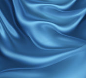 Blue silk waves Stock Photo
