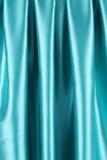 Blue silk. Stock Photos