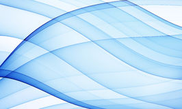 Blue silky curves royalty free illustration