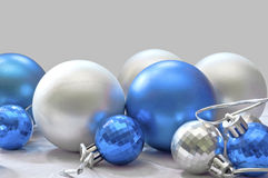 Blue and silver balls Stock Photo