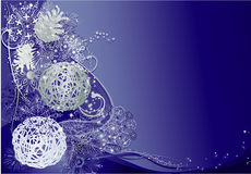 Blue and silver christmas Stock Photography