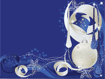 Blue and silver christmas card Royalty Free Stock Photo