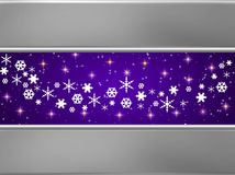 Blue and silver Christmas card Stock Image