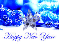 Blue and silver christmas decoration Stock Image