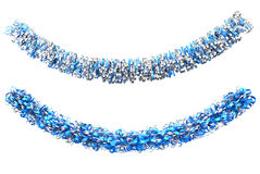 Blue and Silver Christmas Decorations Stock Photography