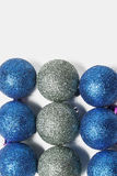Blue and silver Christmas ornament Stock Photo