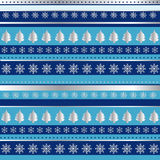 Blue and silver Christmas wrapping paper stock illustration
