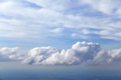 Clouds, view from airplane Stock Photos