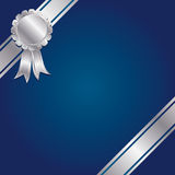 Blue and silver decoration Royalty Free Stock Photography