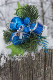 Blue and Silver Decorations Stock Photo
