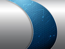 Blue and silver elegant abstract background. Vector illustration Stock Photography