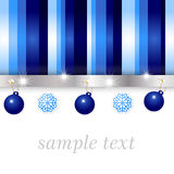 Blue and silver glossy background Stock Image