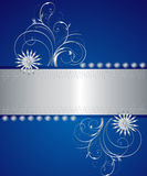 Blue and silver greetin card. Stylish blue and silver greeting card Royalty Free Stock Image
