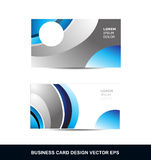 Blue silver grey business card vector design template Stock Image