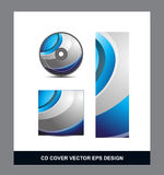 Blue silver grey Cd Dvd cover design Royalty Free Stock Photography