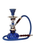 Blue and silver hookah Royalty Free Stock Images