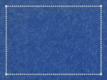 Blue and silver leather cover Stock Image