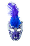 Blue and silver mask. Isolated on a white background Royalty Free Stock Photos