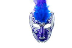 Blue and silver mask royalty free stock image