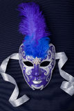 Blue and silver mask Royalty Free Stock Images