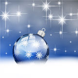 Blue silver merry christmas ball Stock Photos