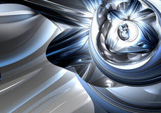 Blue&silver metall 03. A Study of Form&Colors, rendered in Bryce Stock Photography