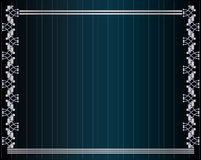 Blue silver metallic background. Blue silver metallic frame on a blue striped background Stock Photos