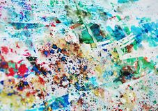Pastel paint, waxy spots, watercolor paint, colorful hues royalty free stock photos